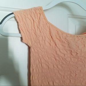 FREE PEOPLE | Peach Textured Bodycon Dress